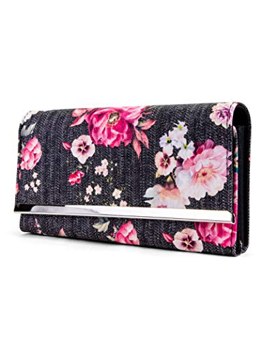 Mundi File Master Womens RFID Blocking Wallet Clutch Organizer With Change Pocket (One Size, Washed Rose)