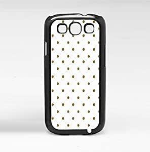 Gold Metallic Polka Dots on White Background (Galaxy s3 III)