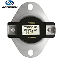 Aodesen 3387134 Dryer Thermostat Replacement Part for Whirlpool & Kenmore Dryers - Replaces Old Numbers: 3387135, 3387139, WP3387134.