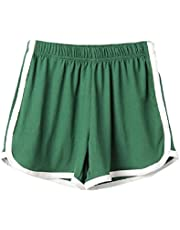 Howely Womens Colorblock Power Stretch Comfort Active Workout Shorts