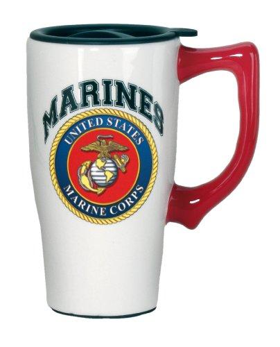Spoontiques Marines Travel Mug, White