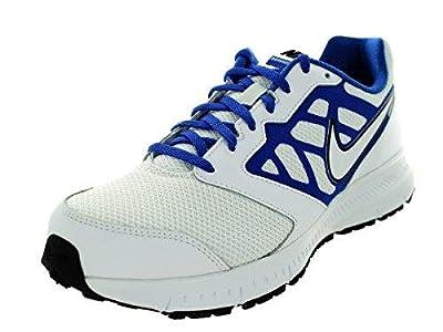 Nike Mens Downshifter 6 White/White/Game Royal/Black Running Shoe 12 Men US