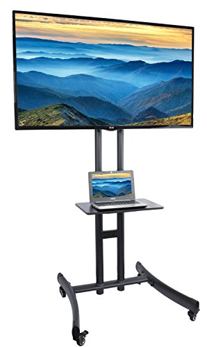 VIVO TV Cart for LCD LED Plasma Flat Panel Stand Mount w/ Mobile Wheels fits 30' to 70' Screens (STAND-TV06C)