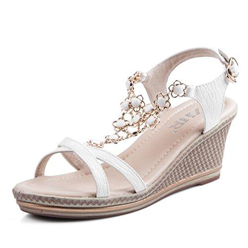 Pan Heel Wedges Sandals Platform Sandals Muffin Summer B Shoes Casual Womens High ZqIUn