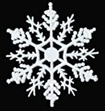 12-pc White 4 inch Snowflake Christmas Ornaments