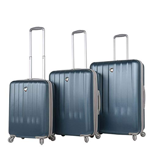 Mia Toro Italy Mozzafiato Hardside Spinner Luggage 3pc Set, Slate