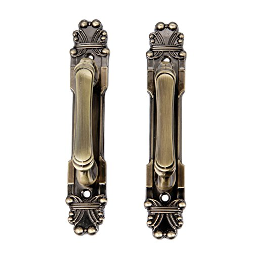 2Pcs 165mm European Style Vintage Brass Metal Knobs Handles for Home Cabinet Door Drawer Wardrobe Cupboard Antique Bronze