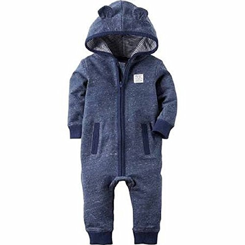 Carter's Baby Boys' 1 Piece French Terry Jumpsuit (18m, (French Terry Jumpsuit)