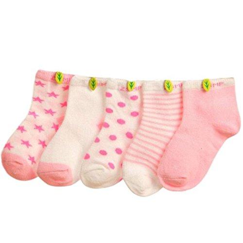 5 Pairs Baby Girls Cotton Short Socks,Tuscom@ Newborn Floor Socks
