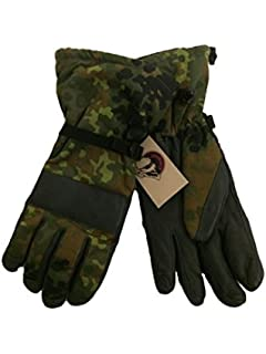Original German army surplus flecktarn camouflage winter mitts gloves