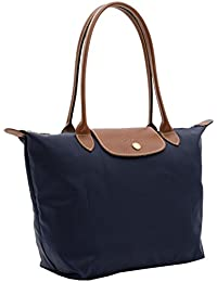 LONGCHAMP Large Le Pliage Nylon TOTE Shoulder Bag-Navy Blue