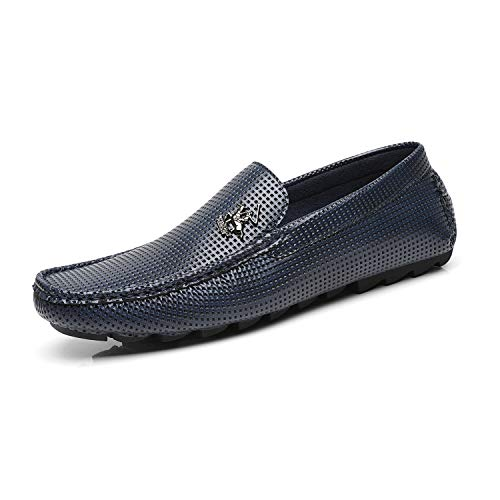 Hill Ornament - Beverly Hills Polo Club Men's Driving Shoes Slip-on Loafer Moccasin Textured Casual Lightweight Flat Boat Shoes for Men