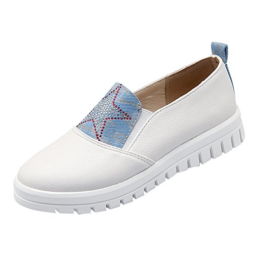 Latasa Kvinna Fashion Star Slip-on Mode Sneakers Loafers Bekväma Skor Vita