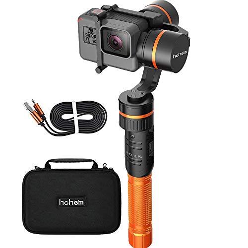 Hohem HG5 3-Axis Gimbal Stabilizer, Handheld Aluminum Gimbal Compatiable with GoPro Hero 2018 7 6 5 4 3, Yi 4K Action Camera, AEE, SJCAM - APP Controls,Auto Panorama