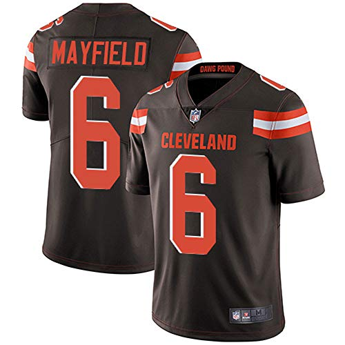 VF LSG Men's Cleveland Browns 6# Baker Mayfield Limited Brown Stitch Jersey (Brown, M)
