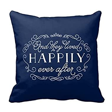 LANYE And They Lived Happily Ever After Accent Throw Pillow Cover Cushion Case 18