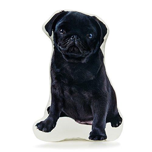 Black Pug Pillow (Cushion Co - Pug Black Pillow 16