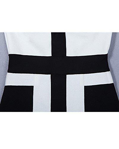 Whoinshop Dress White Graphic Women's And Print Black Cocktail Strapless Bandage rgxqfarw