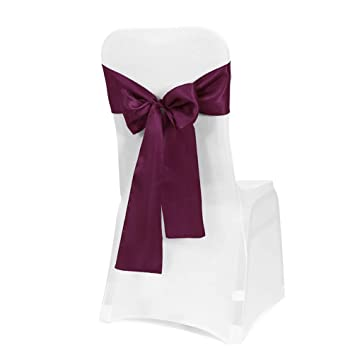 Miraculous Obstal 50 Pcs Satin Chair Sashes Bows For Wedding Reception Universal Chair Cover Back Tie Supplies For Banquet Party Hotel Event Decorations Alphanode Cool Chair Designs And Ideas Alphanodeonline