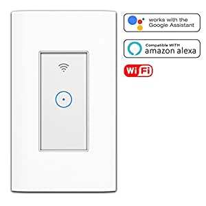 smart light switch wi fi switch in wall wireless switch compatible with amazon