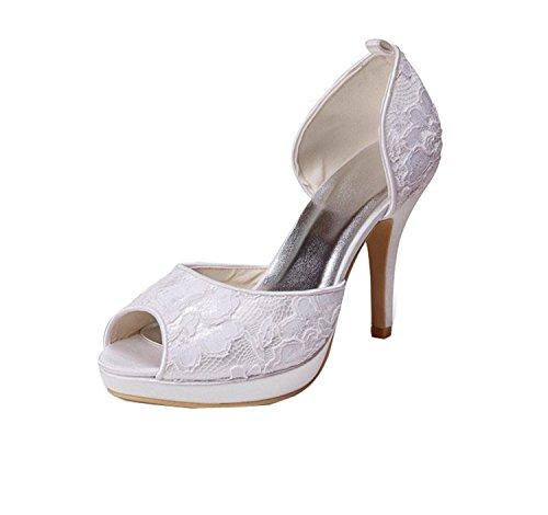 Kevin Moda, Casamento Sapatos Da Moda Das Mulheres Bege - Tamanho Marfil: 43 Eu