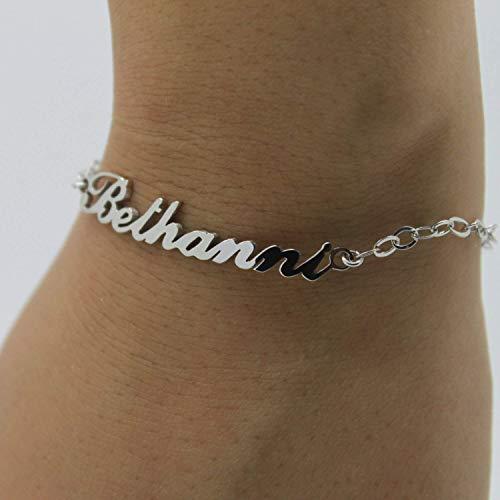 verfügbar ankommen besondere Auswahl an 925 Silber Namensarmband/Fußband - Armband mit Namen ...