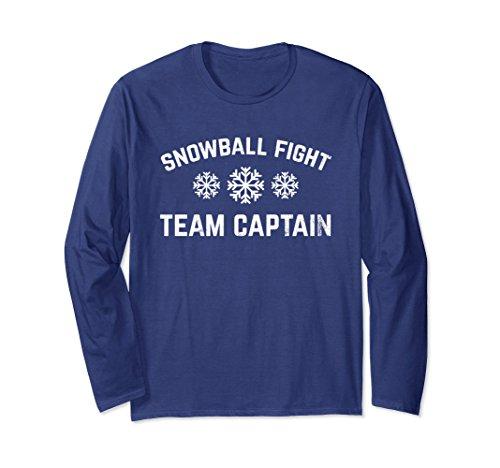 Fight Team T-shirt (Unisex Snowball Fight Team Captain Funny Winter Snow Tshirt XL: Navy)