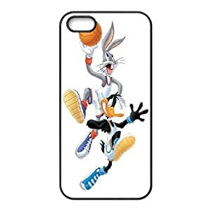 IPhone 5,5S Case Bugs Bunny and Daffy Duck, Iphone 5s Cases for Teen Girls Protective - [Black] Yearinspace by tigerbrace