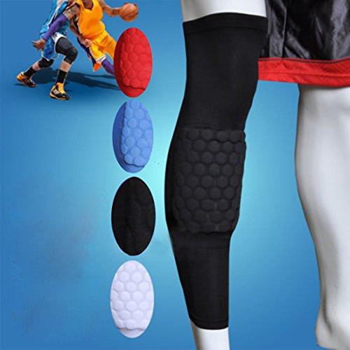 Honeycomb Pad Crashproof Antislip Basketball Leg Knee Long Sleeve Protector