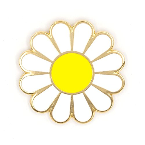 - These Are Things White Daisy Enamel Pin