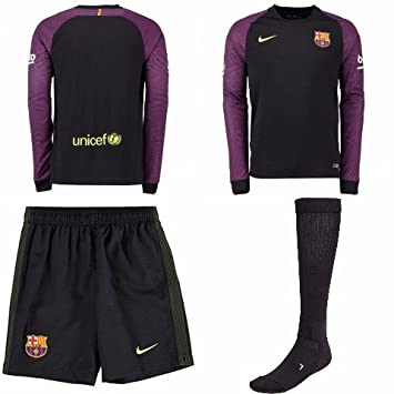 best sneakers a9387 269c6 BARCELONA GOALKEEPER KIT CHILDREN`S SIZES SHIRT SHORTS ...