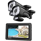 """CasaCam VS1002 Wireless Security Camera System with HD Spotlight Cameras and 7"""" Touchscreen Monitor (2-cam kit)"""
