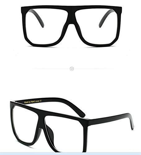 Retro UV400 Hombre C6 Súper Cuadrados Sol Gafas de Sol de Espejo Gafas Gafas Polarizadas Lente Unisex Mujer Ligero Vintage Fliegend vq6gx1Fwq