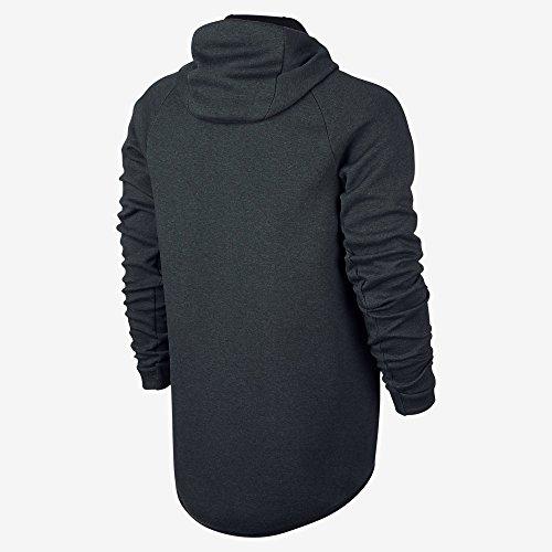 Nike Mens Sportswear Tech Fleece Windrunner Felpa Con Cappuccio Alghe / Htr / Nero
