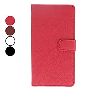 Litchi Grain Full Body PU Leather Protective Case for Sony Xperia L36h (Assorted Colors) --- COLOR:Red