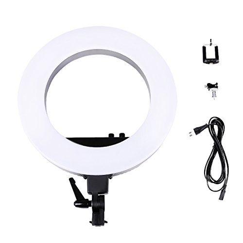 Camera Photo/Video 18''Outer 12''Inner Led O Selfie Ring Fluorescent Flash Light by Konseen