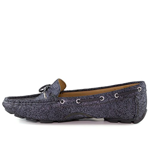 Black Loafer Napa Style Driving Bow Leather Driver Women's Nantucket Tie Club Pony USA aqZAv