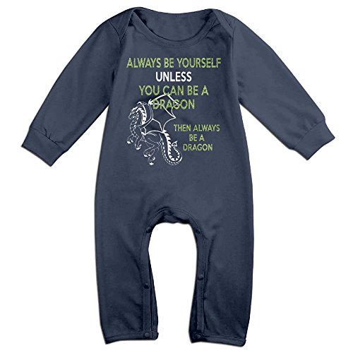 Be Yourself Or A Dragon Baby Onesie Romper Jumpsuit (Dragon Baby Clothes)
