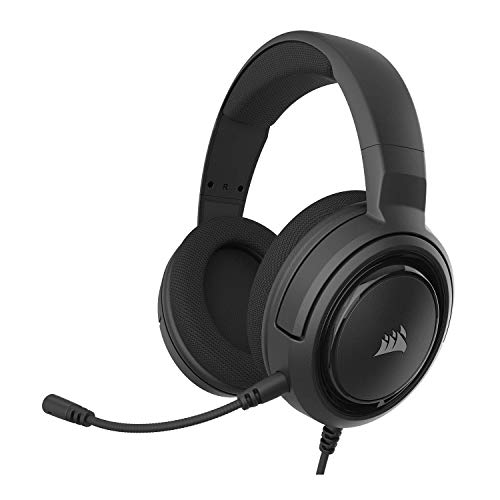 Corsair HS35 - Stereo Gaming Headset - Memory Foam Earcups - Headphones Work with PC, Mac, Xbox One, PS4, Switch, iOS and Android - Carbon, 2.6
