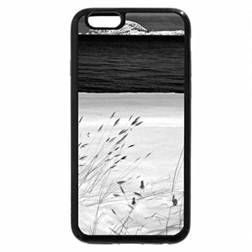 iPhone 6S Plus Case, iPhone 6 Plus Case (Black & White) - Blue and White Beach