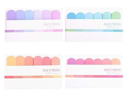 amazon com max corner pastel index label sticky notes cute memo