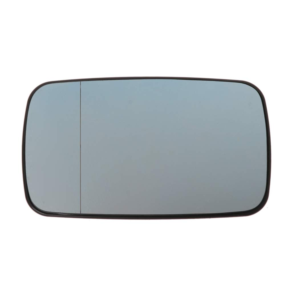 Runrain Blue Rearview Mirror Glass Left Cab Heatable Lens For BMW 3Series E46