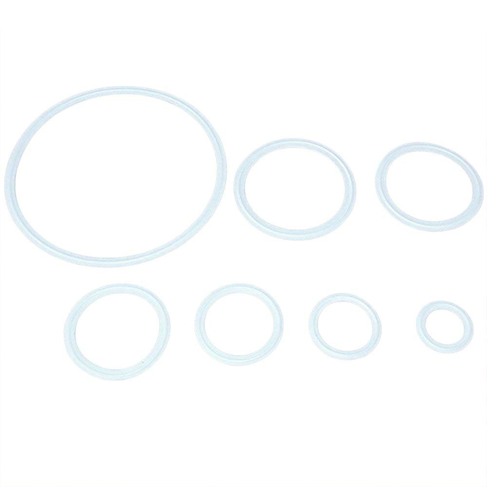 "4/"" PTFE Gasket White Fits 115mm OD Sanitary Tri Clamp Type Ferrule Flange"