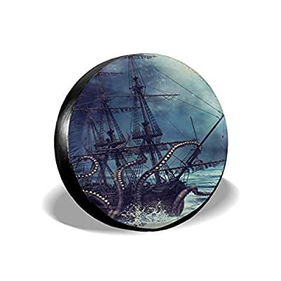 Pirate Ship Octopus Leader Accessories Spare Tire Cover,Waterproof Dust-Proof(Fit 23-32 Inches): Sports & Outdoors