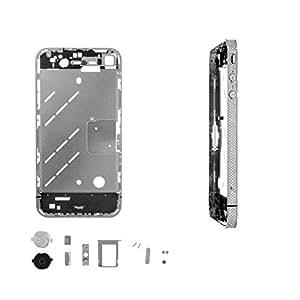 Estructura PLATEADA con BRILLANTES iPhone 4-Plata-Unica