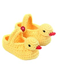YUE-X Cute Socks Unisex Boy Girl Baby Hand Knitting Crochet Bootie Shoes
