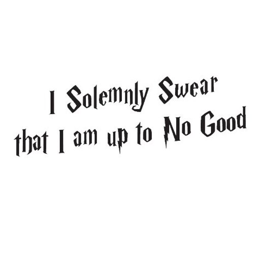 TOOGOO(R) Wall Sticker Decal Quote I Solemnly Swear I'm Up to No Good Harry Potter G080