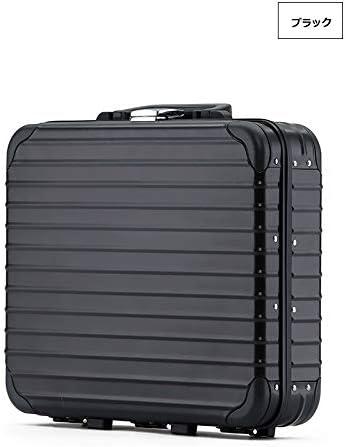 アルミスーツケース 工具箱 ツールボックス 13インチ アルミ合金製 道具箱 ボックス 収納 ツール収納ケース ブラック/シルバー 高品質 gm01 (ブラック)