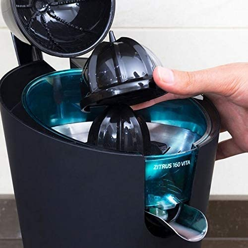 Eurroweb - Exprimidor eléctrico con filtro (160 W), color negro