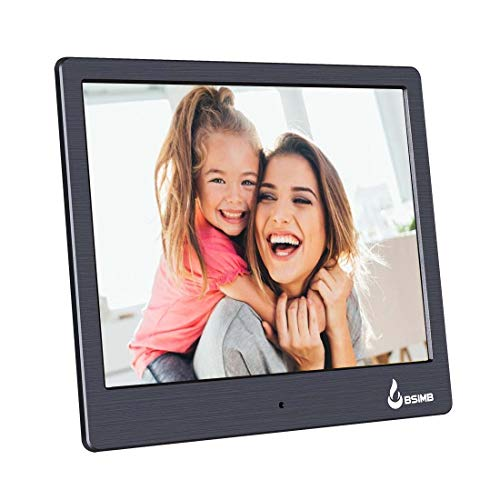 BSIMB Digital Picture Frame Digital Photo Frame 8 Inch 1024x768 (4:3) Hi-Res LED Display Electronic Photo Frame with Remote Control Support USB Stick/SD Card M12 (Cordless Electronic Picture Frame)